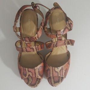 Naturalizer Animal Skin print Sandals Sz 10